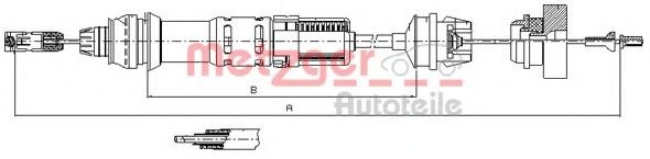11.2280 Clutch Cable
