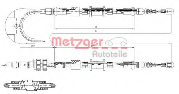 11.5493 Cable, parking brake