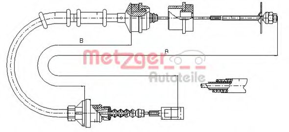 1172.5 Clutch Cable