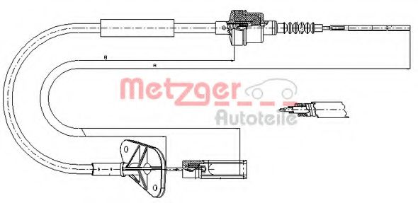 12.7201 Clutch Clutch Cable
