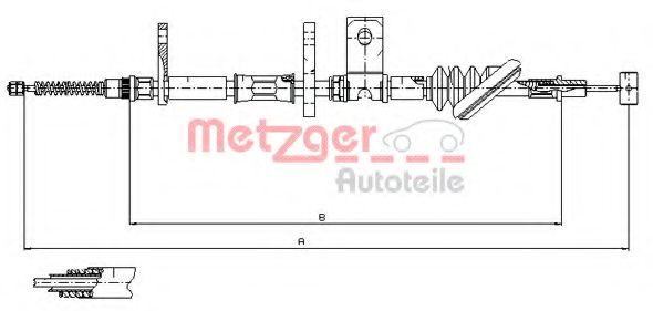 17.5021 Cable, parking brake