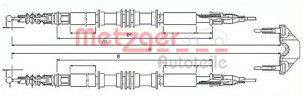 11.5858 Cable, parking brake