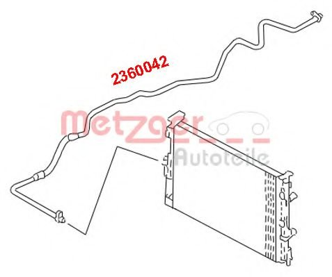 2360042 Air Conditioning High-/Low Pressure Line, air conditioning